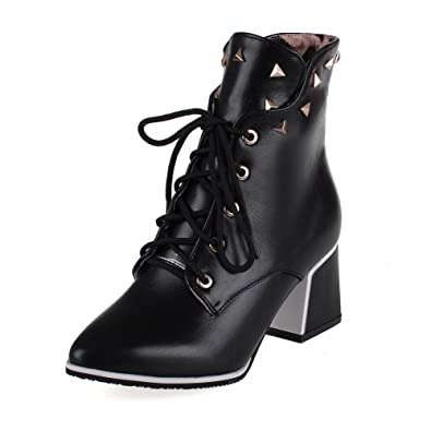 Women's Soft Material Pointed Closed Toe Solid Low-top Kitten-Heels Boots