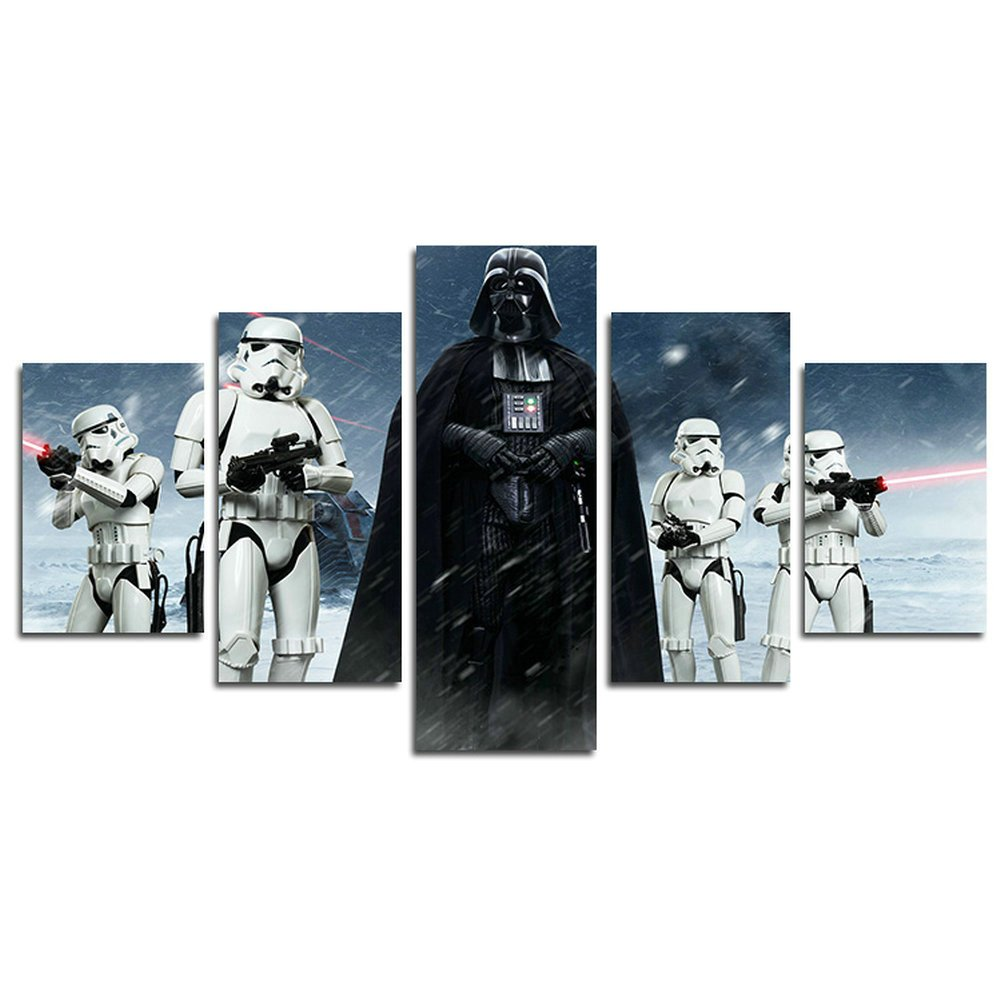 AtfArt 5 Piece Star Wars Darth Vader painting for living room home decor Canvas art wall poster (No Frame) Unframed HB41 50 inch x30 inch