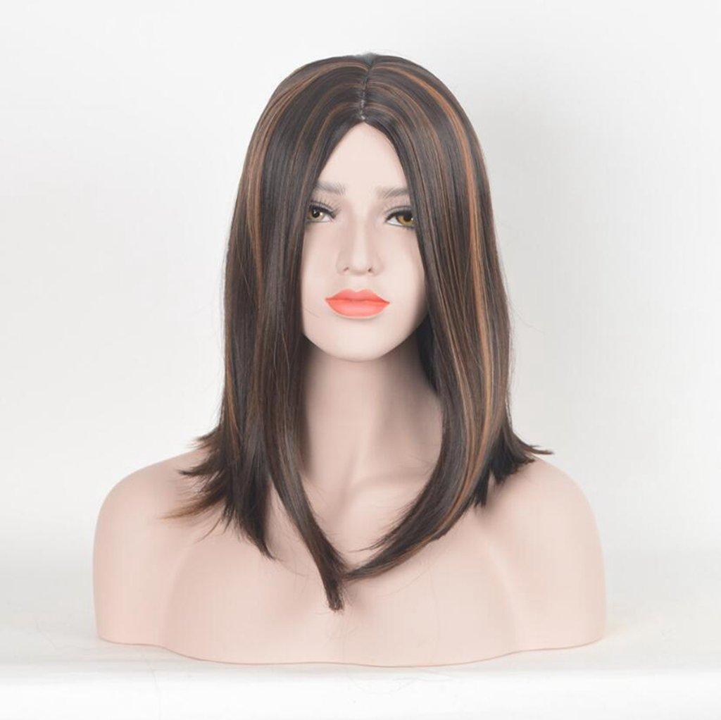 Longless Braun und Schwarz Farbe in das lange Haar glattes Haar