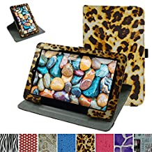 """RCA 10 Viking Pro 10.1 Rotating Case,Mama Mouth 360 Degree Rotary Stand With Cute Lovely Pattern Cover For 10.1"""" RCA 10 Viking Pro Tablet,Leopard Brown"""