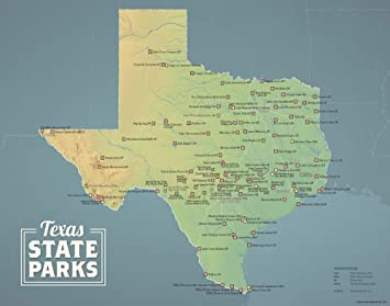 Amazon.com: Best Maps Ever Texas State Parks Map 11x14 Print ...