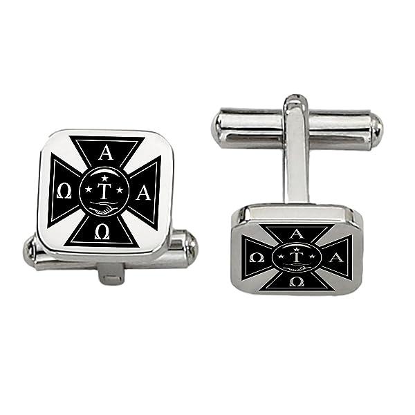 Amazon Alpha Tau Omega Symbol Cufflinks Rounded Square Style
