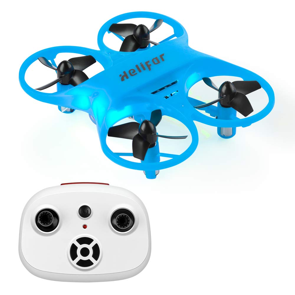 HELIFAR H8 Mini RC Drone, RC Quadcopter 360 Degree Rotation Function Beginners, Anti-Collision Remote Control More Suitable Children Beginners(Blue)