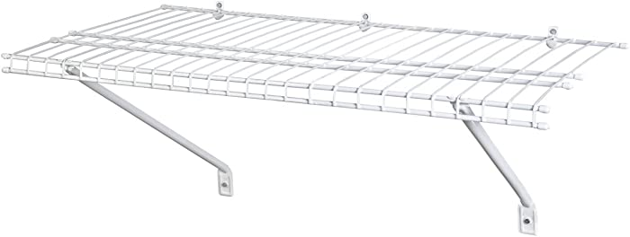 ClosetMaid 1021 Wire Shelf Kit, 2-Feet X 12-Inch, White