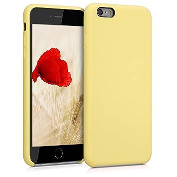 kwmobile Funda para Apple iPhone 6 Plus / 6S Plus - Carcasa de [TPU] para teléfono móvil - Cover [Trasero] en [Vainilla]