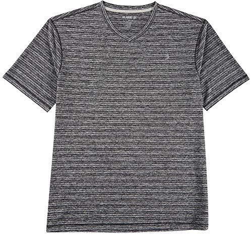 Reel Legends Mens Reel-Tec Tonal Stripe T-Shirt Small Black