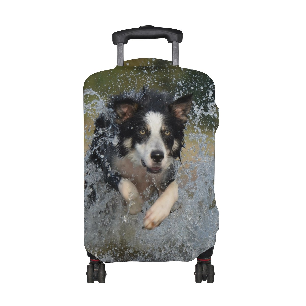 LEISISI Cute Border Collie Luggage Cover Elastic Protector Fits XL 29-32 in Suitcase