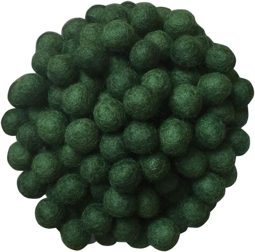 Felt Ball Garland Nepalese Hand Made Handmade 100/% Wool Felt Balls Craft Wool Felt Pom Poms 51050100 pcs Wool Felt Balls Teal 2cm