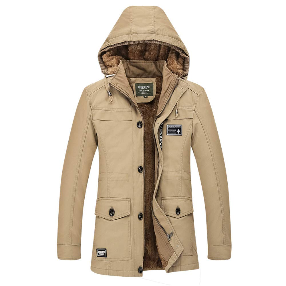Pandaie-Mens Product OUTERWEAR メンズ B07K7HDY5Q カーキ Large