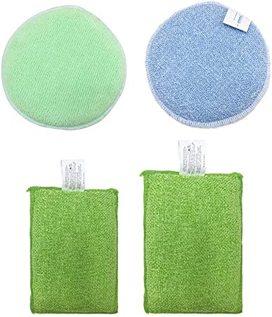 xxccxx Campana extractora baño de descontaminación Fuerte Manchas Rebeldes Cepillo de Limpieza de Doble Cara Esponja de absorción de Agua Color Paquete Aleatorio de 3: Amazon.es: Hogar