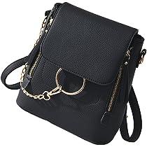 22219091850d ... HENGSHENG Fashion Women Crossbody Backpack Purse Small Pu Leather  Shoulder Bag Ladies Cute Chain Satchel Bag