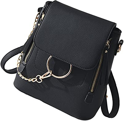 PU Schoolbag Small Wallet Satchel Shoulder Chain Bag Gift