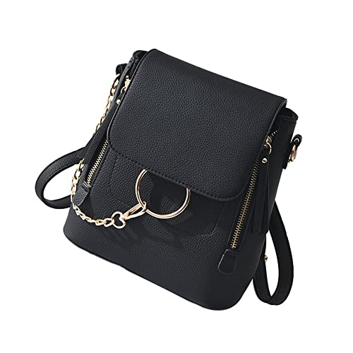 cda671e3ec92 SCENTW Fashion Women Crossbody Backpack Purse Small Pu Leather Shoulder Bag  Ladies Cute Chain Satchel Bag