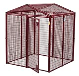 Animal House Ultra Heavy Duty Gable Covered Protective Kennel (6.2' Hx5'Lx5'W) 128.2 lbs