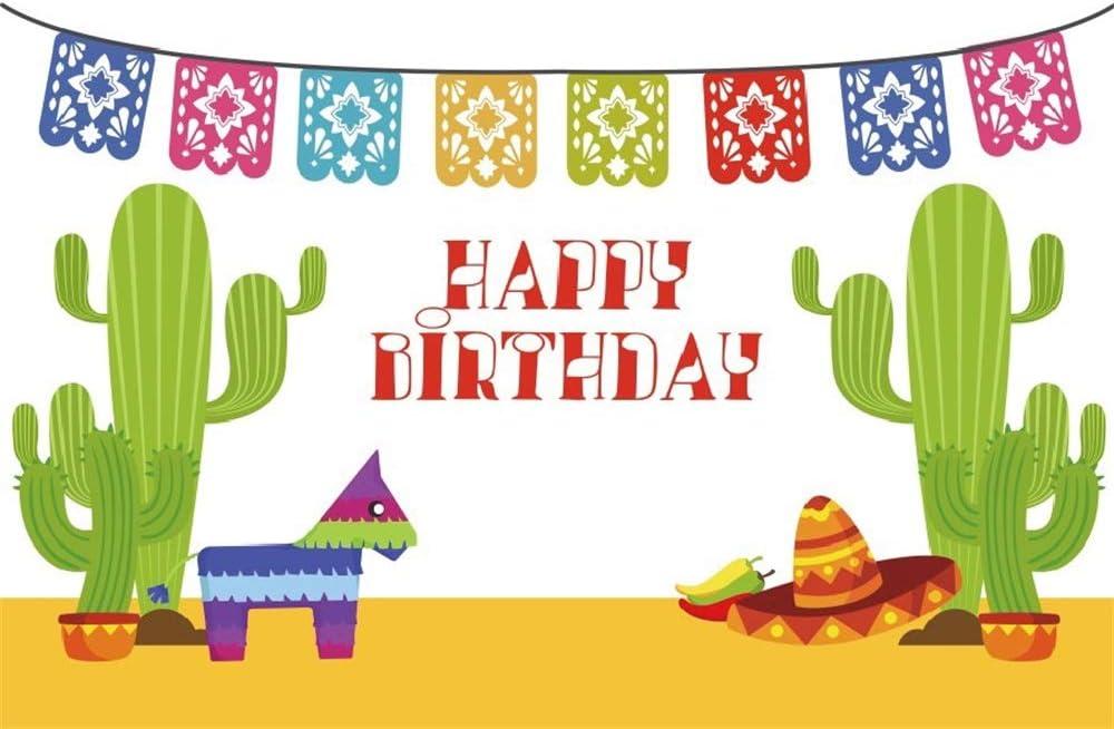 Amazon Com Lfeey 5x3ft Cartoon Cactus Birthday Backdrop Desert Floor Cute Cacti Paper Dog Happy Bday Party Decoration Computer Printed Photography Background Photo Studio Props Camera Photo