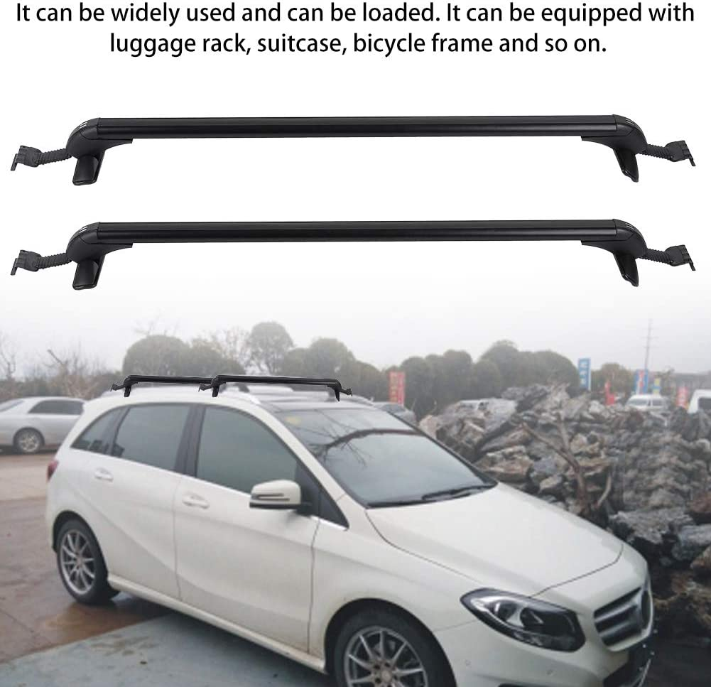 Estink Roof Bars 2Pc Universal Aluminum Alloy Car Top Luggage Roof Rack Cross Bars Carrier with 2 Keys for All Kind of Cars 45inch