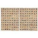木製アルファベット文字Scrabbleタイルセット/ DIY Letter Crafts for Children Kids学生 JPTUSCA0553の商品画像
