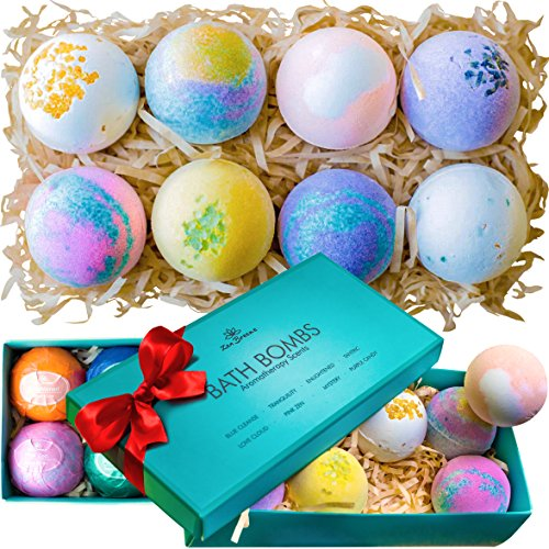 Bath bombs gift set 8 luxury all vegan bubble fizzies for women bath bombs gift negle Choice Image