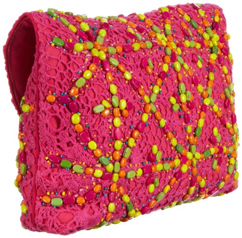 Antik Batik CROCHET - Bolso de mano de lana mujer rosa - Pink (PINK)