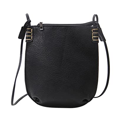 bfb60346a8b5 Amazon.com: Crossbody Bags, Dream Room Women Leather Handbag Messenger Bags  Frosted Bucket Bag Satchel Purse (Black): Dream Room - Black Friday & Cyber  ...