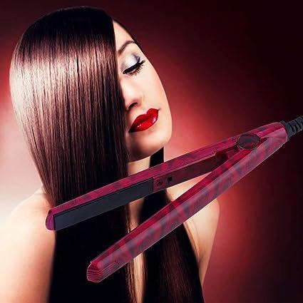 Mini EU alisador electrónico de cerámica para el pelo, herramienta de plancha 220 V