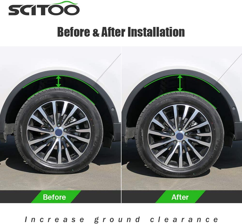 SCITOO Lift 3 inch Front Leveling lift kit Strut Spacer for Dodge 2006-2018 Raise 3 Inch Front Strut Spacers for Dodge Ram Suspension Lift Kits 2006-2018