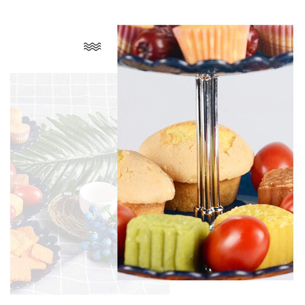 Outtybrave Fruits 3/Assiettes Plates rondes pour cookies Bonbons Snacks /Écrous Assiettes /à fruits Plat de service Plateau 15//18//22cm blanc