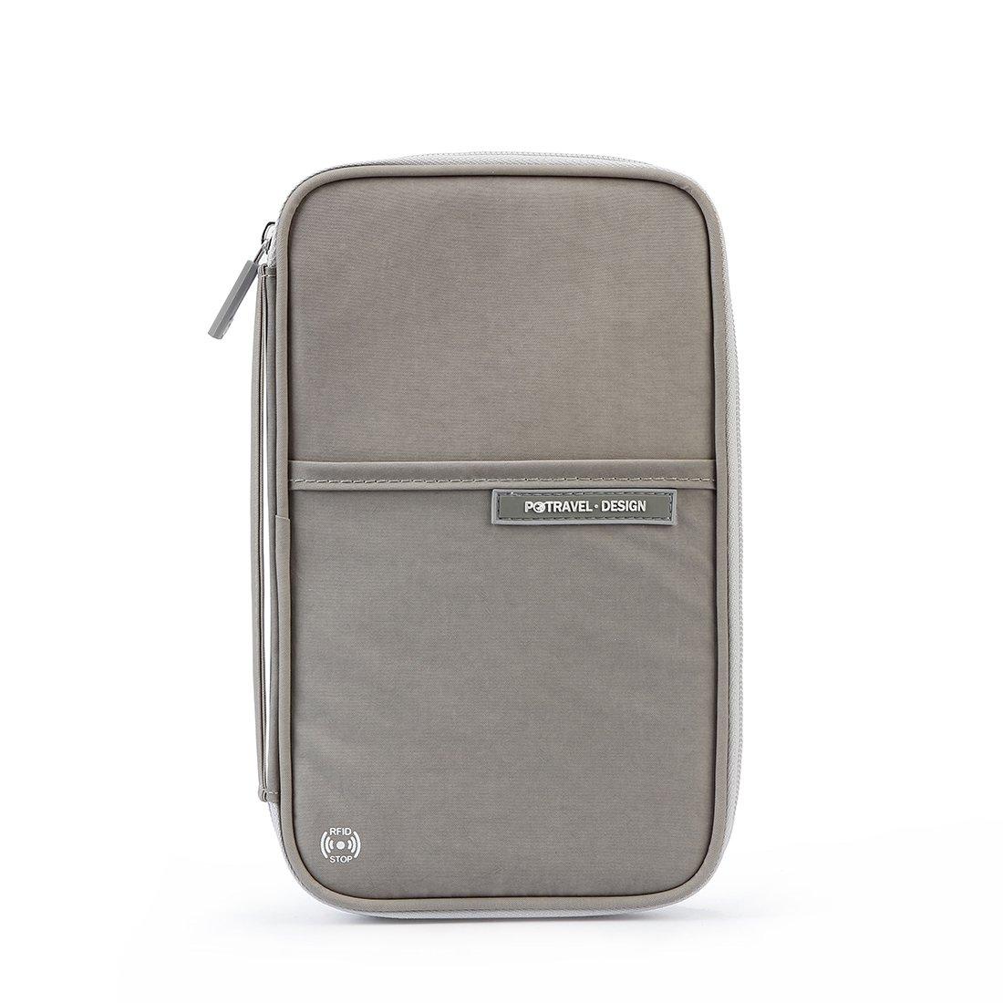 RFID Blocking Travel Passport Wallet Holder,Family Document Organizer Bag