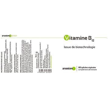 VITAMINA B12 * 1000 μg / 180 cápsulas * Energia (fatiga ...