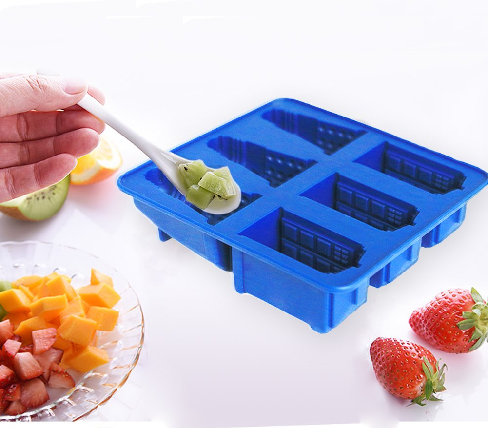 Joyoldelf Doctor Who Silicone Ice Cube Tray and Chocolate,Candy,Cookies Mold Maker - Tardis and Daleks W0198-1