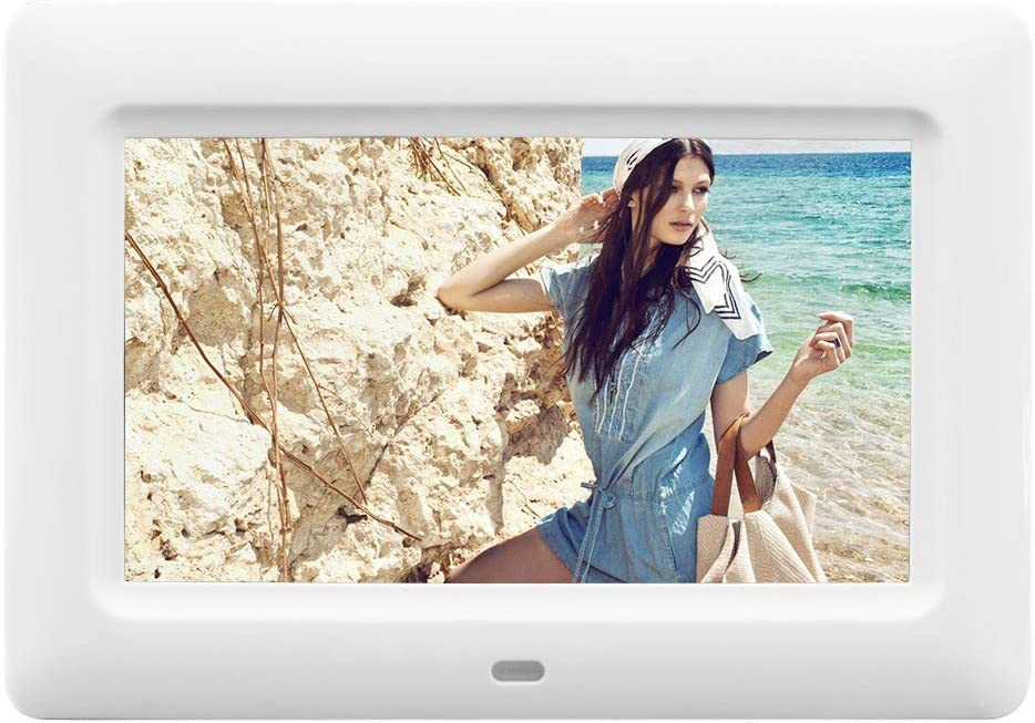 7-inch LED LCD Screen with Infrared Remote Controller Advertising Media Player Zhengpin Digital Picture Frames Built-in Stereo Speakers