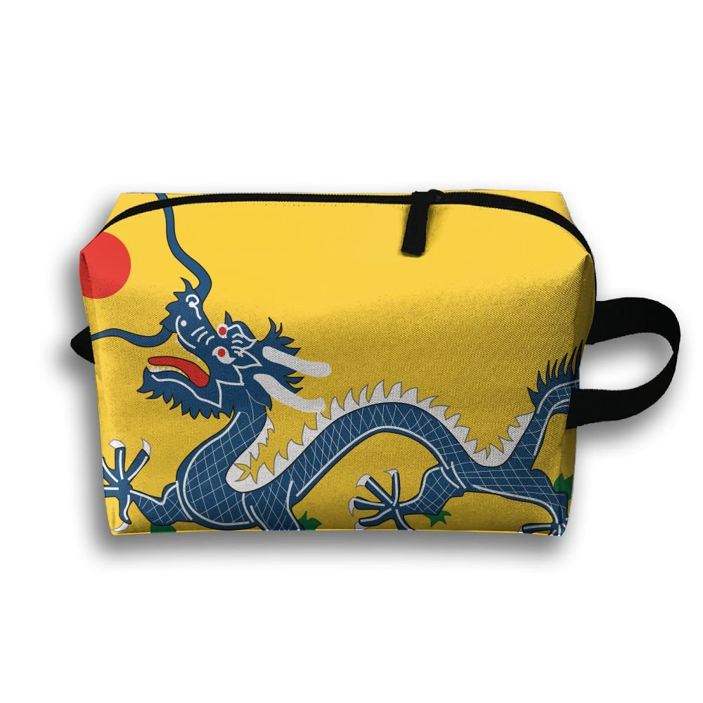 4ad42dce81 Leisue China Qing Dynasty Dragon Flag Cosmetic Bag Zipper Makeup  Accessories Pouch Toiletries Bags Pen Pencil