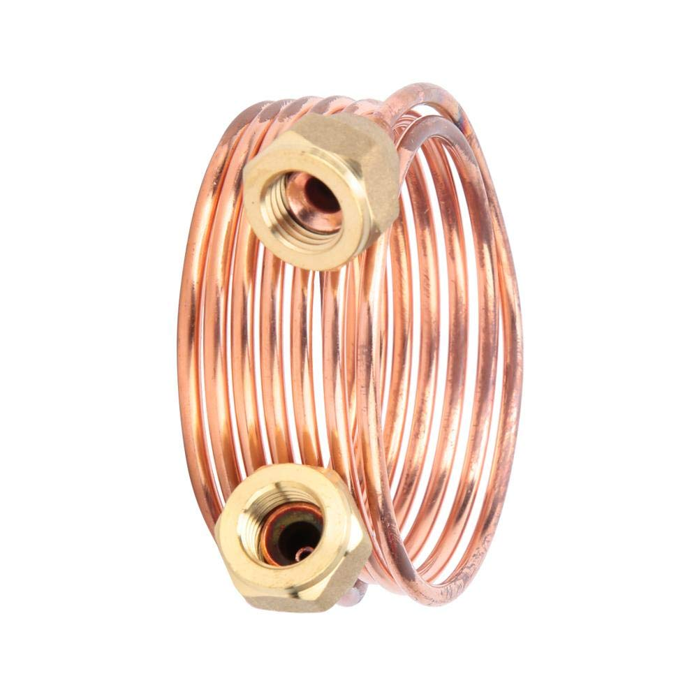 0.1in x Optional 2.9ft//4.9ft//6.5ft Suitable R22//R410//R32 Rustproof Sealing Brass Refrigeration Tubing Coil with G1//4 for Refrigerating Cabinet Copper Tubing 1500mm Central air Conditioning