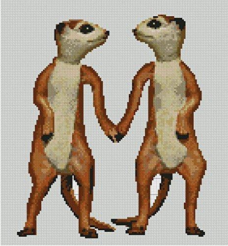 "Meer Kat Counted Cross Stitch Kit 13/"" x 8/"" Meerkat"