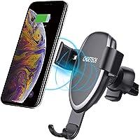 CHOETECH Chargeur sans Fil Rapide Voiture, Chargeur à Induction Qi Pince Grille d'Aération 7, 5W pour iPhone XS/XS Max/XR/X/8/8 Plus, 10W pour S9/S9+/S8/S8+/S7/Note 8/9, 5W pour Compatible Qi