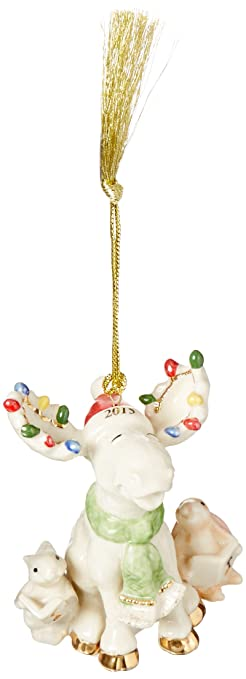 Amazoncom Lenox Merry Moose Choir Ornament 2015 Home  Kitchen