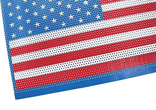 MOEBULB American Flag Steel Front Grill Insert Mesh Grille for 2007-2017 Jeep Wrangler JK 2//4 Door Without Key Hole