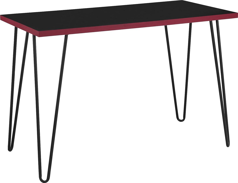 amazoncom altra owen retro desk blackred kitchen dining altra furniture owen student writing desk multiple