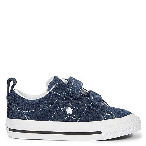 7008375bc57e Converse Toddler One Star 2V Ox - Navy White Black - UK 9 Toddler ...