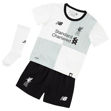 New Balance 2017-2018 Liverpool Away Little Boys Mini Kit