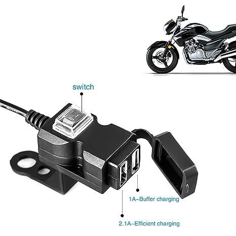 AIJICHE Doble Puerto USB 12V Impermeable Manillar de la ...