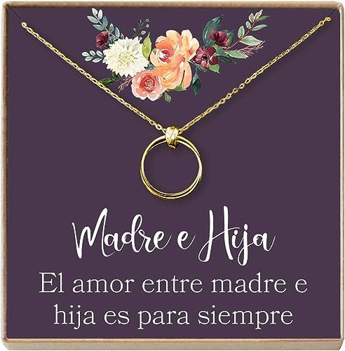 Amazon.com: Collar Regalo Madre e Hija: Día de la Madre ...