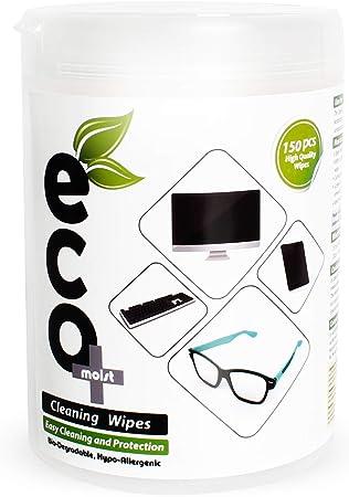 Ecomoist Toallitas limpiadoras LCD LED Plasma TV PC Monitores portátiles Teléfonos móviles Tableta Teclado Pantalla táctil Lentes Toallitas Limpiador ...