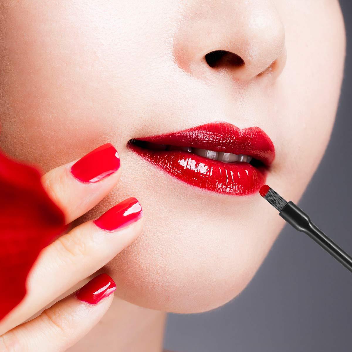Frcolor Disposable Lip Gloss Brushes Lipstick Wands Applicator Flat Brush Makeup Cosmetic Tools (100 Pcs): Beauty