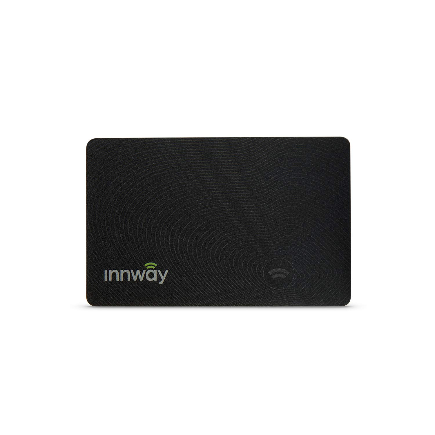 Innway Card - Ultra Thin Rechargeable Bluetooth Tracker Finder. Find Your Wallet, Bag, Backpack, Keys, Laptop, Tablet (Black) by innway