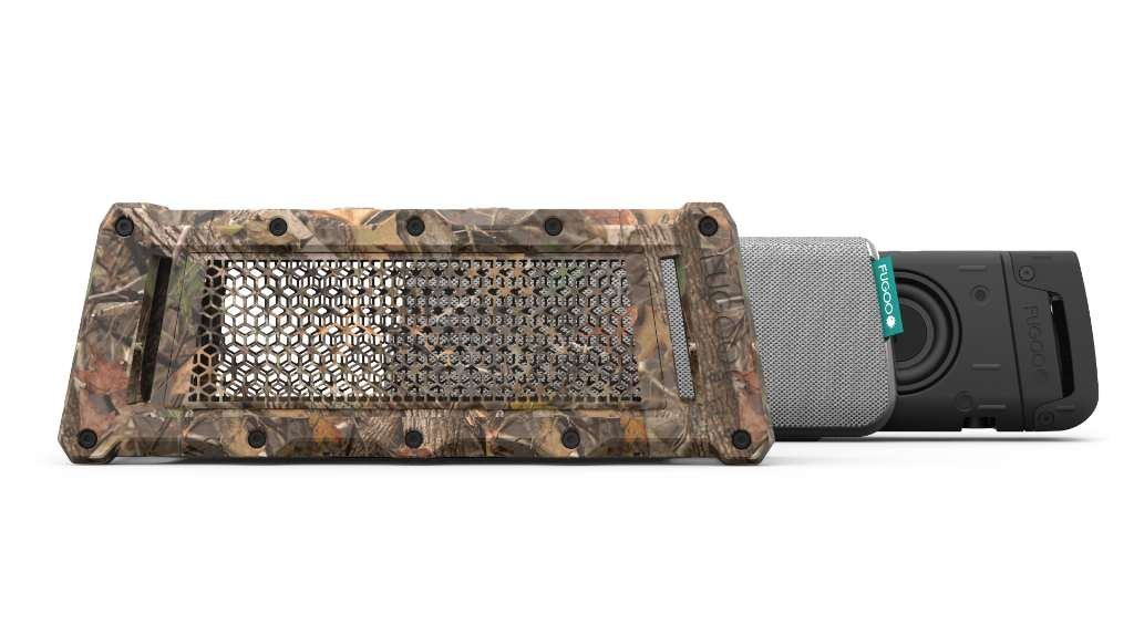 Fugoo Tough Camo Edition Bluetooth Speaker & Jacket Case Set - Portable Surround Sound Speakerphones w/ Custom Reinforced Cover - Waterproof Water-Resistant by Fugoo (Image #2)