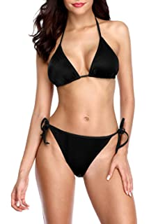 187009371af0f Sociala Women's Halter Triangle Bikini Swimsuits String Two Piece Bathing  Suits