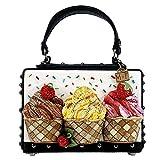 MARY FRANCES Baby Cakes Embellished Cupcake Theme Top Handle Novelty Handbag