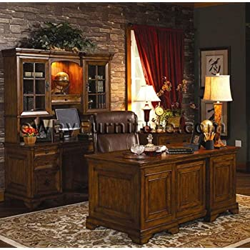 Old World Executive Home Office Desk Furniture