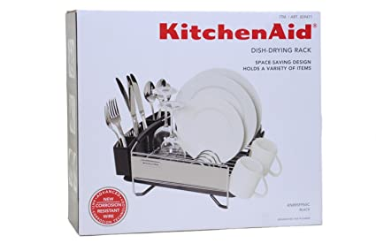 KitchenAid Dish Drying Rack Stainless Steel Space Saving Compact Design  Size: 13u0026quot;x14u0026quot